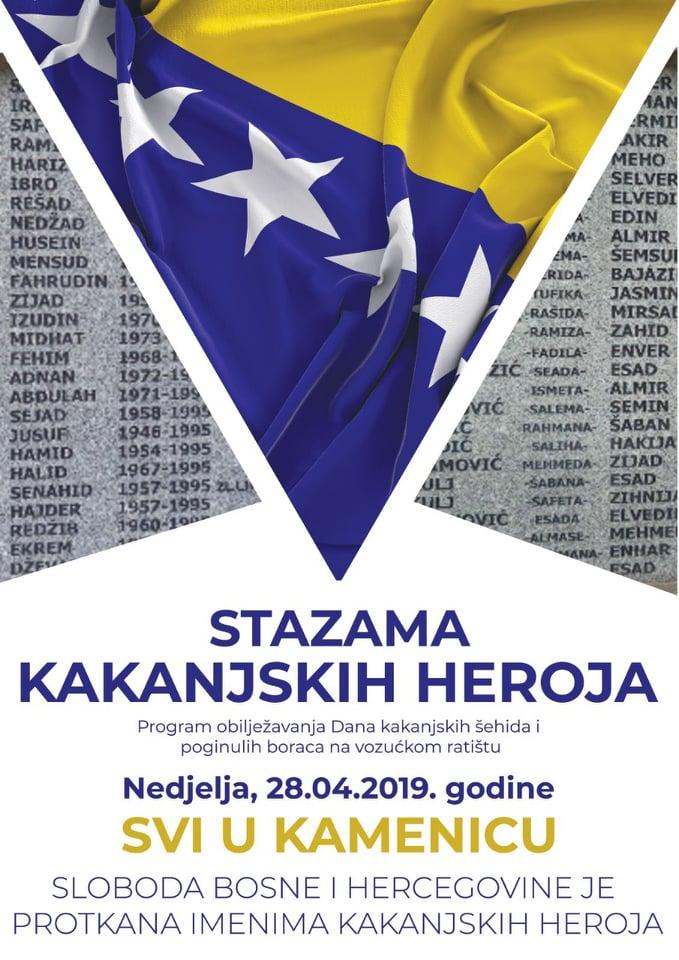 """U nedjelju Memorijalni pohod """"Stazama kakanjskih heroja"""" – Luka šehida – Kamenica ( pogledajte program)"""