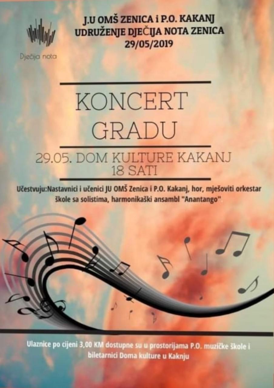 Najava: Koncert gradu