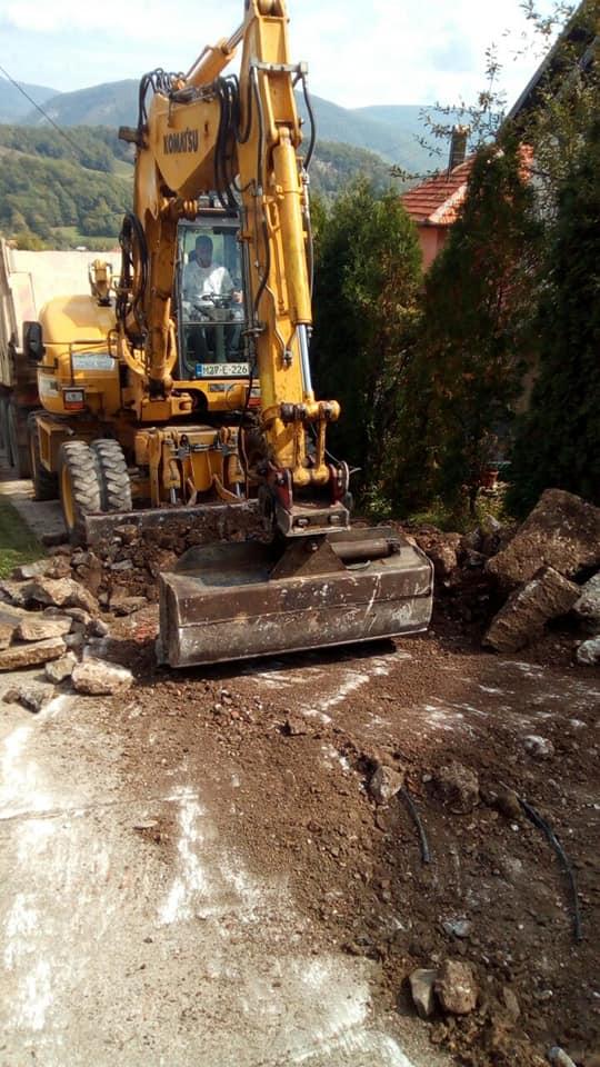 Započeti radovi na rekonstrukciji ceste za naselje Čaje u Mjesnoj zajednici Brnj