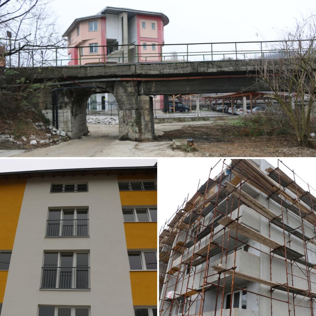 Aktuelni radovi: U toku rekonstrukcija Vatrogasne ulice u Doboju i završni radovi na izgradnji zgrada za socijalno stanovanje