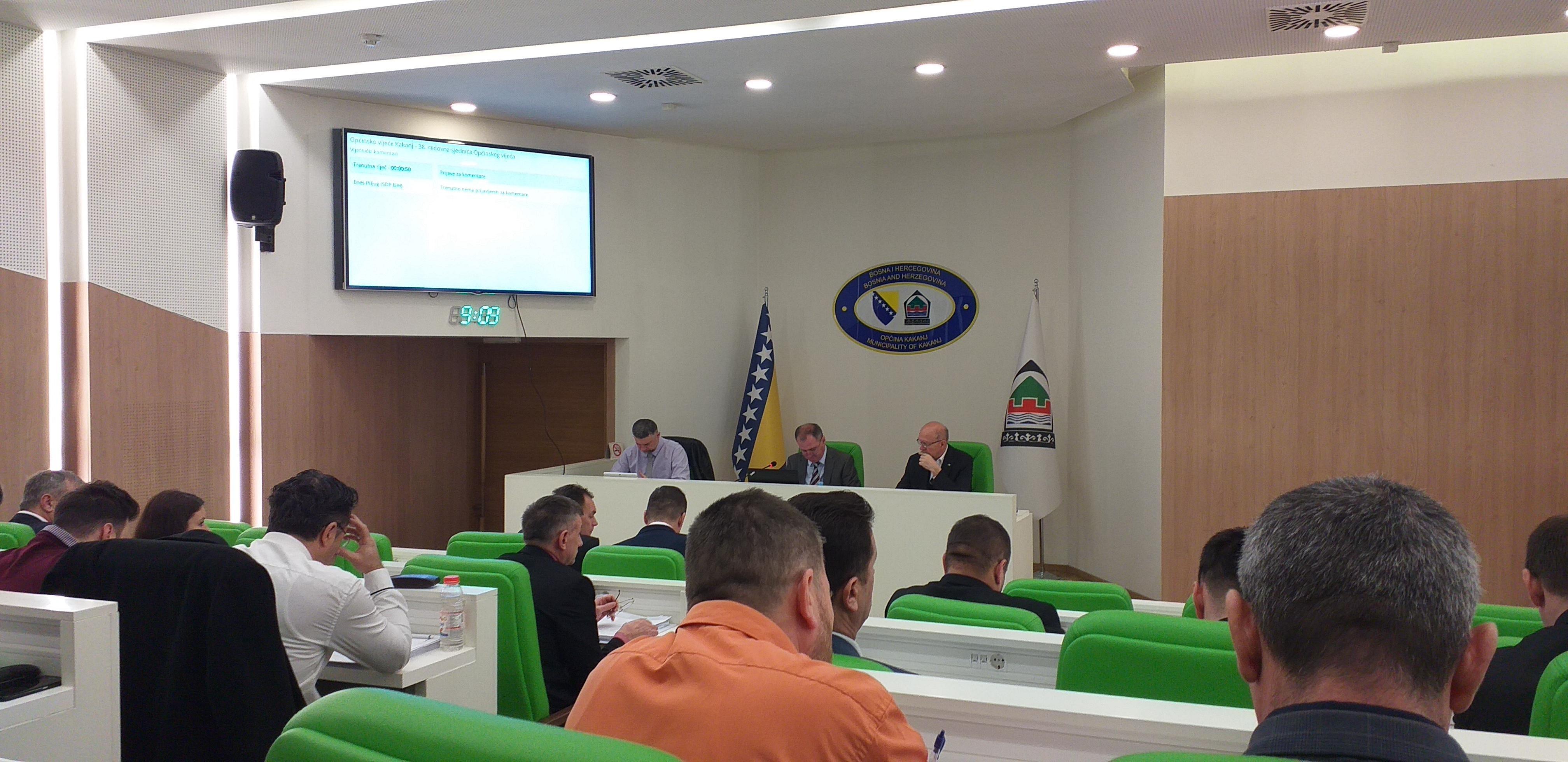 Izvještaj sa 38. redovne sjednice Općinskog vijeća
